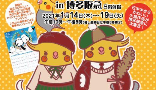 あっちこっち小鳥展in博多阪急(2021/1/14-19)
